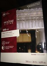 Holiday Living Christmas Wedding 300 ct. Clear Icicle Lights White Corded Wire