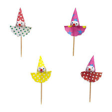 "144 Deko Picker 8 cm ""Clown"" Party Spieße Papstar Holzpicker"