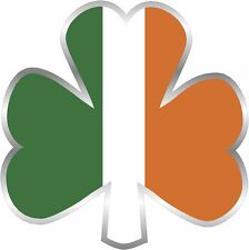 "Ireland Shamrock Decal 3"" Flag Lucky IRISH USA Clover Vinyl Sticker Celtic Flag"