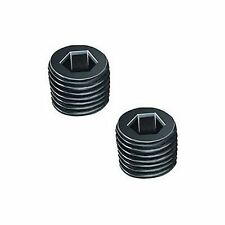 "Pair 1/4"" BSPT BSP PT Pipe Thread Allen Head Plug Black Steel  +W4"