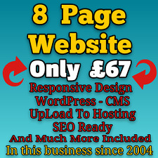 Website Design - Web Domain with Hosting - Mobile Friendly 8 Page Web Design