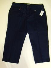 NWT Womens Lauren Ralph Lauren Active Navy Cropped Pants 14 NEW