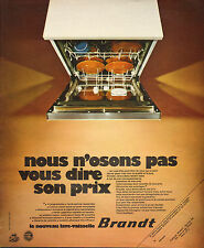 Publicité 1972   BRANDT le nouveau lave vaisselle