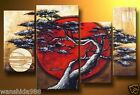NEW 4PCS Handmade MODERN ABSTRACT HUGE WALL ART OIL PAINTING ON CANVAS