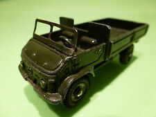 DINKY TOYS 821 MERCEDES BENZ UNIMOG - ARMY GREEN 1:50 - GOOD COND - MILITARY