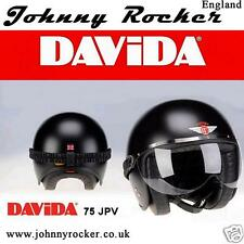 Davida 75 JPV Johnny Rocker Jet Style Open clear face universal visor