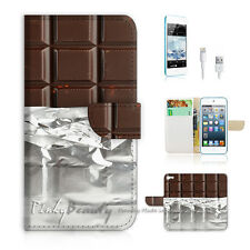 iPod Touch 5 iTouch 5 Flip Wallet Case Cover! P0734 Chocolate