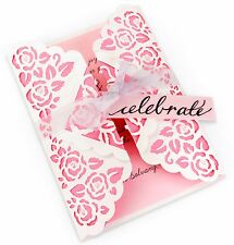 Sizzix Thinlits Rose Lace Gatefold Card die #660751 Retail $19.99 by S. Sowell