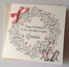Personalised Watercolour Bunny 1st Birthday Card Daughter Granddaughter 2nd 3rd
