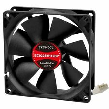 Evercool 4 Wire PWM Case Fan or CPU Fan 92mm x 25mm New! EC9225HH12BP