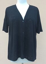 Alfani Short Sleeve Top Sweater Cardigan Maternity Relaxed Fit Black XS NWOT