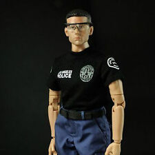 "1: 6 Scale SWAT Police Uniform Dress Black T-shirt Vest for 12"" Action Figure"