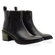 Redfoot Ladies Leather Carmel Black Zip Ankle Boots Shoes UK 5/Euro 38 RRP £200