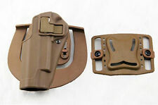 Quick Draw Tactical Left Hand Belt Holster w Paddle for Colt 1911 M1911 Tan