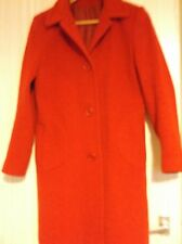 Ladie`s Dorothy Perkins red long coat size 10 wool mix