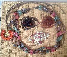 Job Lot Of Vintage Costume Jewellery Bead Necklaces. Pretty Stocking Fillers