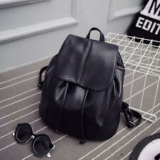 Women Leather Backpack Rucksack Travel School Bag Shoulder Bags Satchel Black