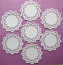 "STAR LACE 10cm or 4"" WHITE PAPER LACE DOILIES x 20"