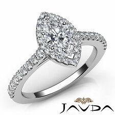 Marquise Cut Prong Set Diamond Engagement Ring GIA Certified G VVS2 Platinum 1Ct