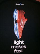 ADIDAS ADIZERO RUSH T SHIRT Running Tennis Shoe 7.5 oz Light Makes Fast Mens XL