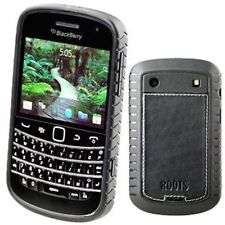 Black Roots Elite Leather Case Cover Screen Protector Blackberry Bold 9900/9930