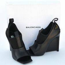 BALENCIAGA New sz 40 - 10 Authentic Designer Womens Heels Shoes open toe black