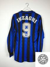 Atalanta INZAGHI #9 96/97 L/S Home Football Shirt (L-XL) Soccer Jersey Asics