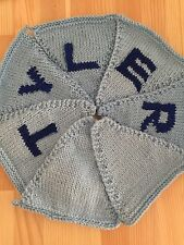 "Handmade Personalised Knitted Bunting ""Tyler"" Gift Baby Toddler"