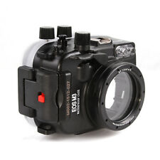 Meikon 40m Underwater Housing Waterproof Case for Canon EOS M3 With 22mm Lens