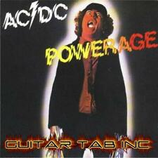AC/DC Guitar Tab POWERAGE Lessons on Disc Angus Young