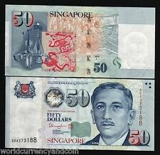SINGAPORE 50 DOLLARS 2010 THARMAN SIGN UNC 1 OR 2 SQUARE GUITAR MUSICAL ART NOTE