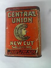 VINTAGE ADVERTISING CENTRAL UNION FAT TOBACCO VERTICAL POCKET  TIN  298-X
