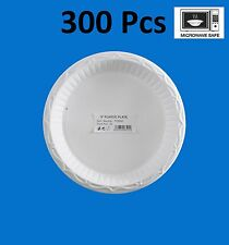 300-Pack High Quality Extra Strong Disposable Plastic Plates Microwave Safe 9""