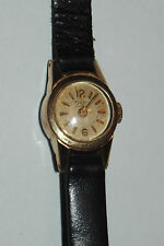 06A22 ANCIENNE MONTRE BRACELET ONSA 17 RUBIS FEMME PLAQUE OR SWISS MADE