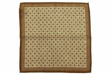 Battisti Pocket Square Mushroom brown with diamond pattern, pure wool