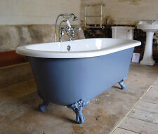 resin stone roll top bath painted in fired earth tempest with waste
