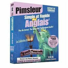 Pimsleur Simple et Rapide Anglais Audio Book [CD]  French Edition  20 0671776312