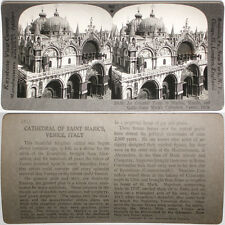 Keystone Stereoview St. Mark's Cathedral, Venice, ITALY From RARE 1200 Card Set