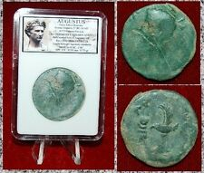 ROMAN EMPIRE COIN AUGUSTUS STRUCK IN SPAIN LEGEONARY EAGLE ON REVERSE