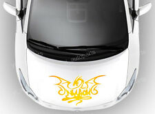 "Car Front Hood Body Graphic Vinyl Sticker Decal Dragon Gold 19"" Racing Sports"