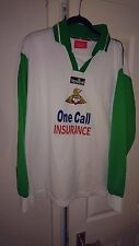 Rare DONCASTER ROVERS Long Sleeved Away Shirt White Green Football Top 2001 2002