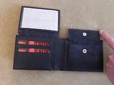 RUDI Black Men's LEATHER WALLET Brand NEW with Tags made in Israel