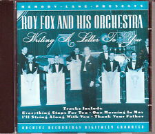 ROY FOX AND HIS ORCHESTRA: WRITING A LETTER TO YOU 22 TRX A PEGASUS CD