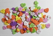 Assortiment de 100+ 5mm deep love coeur en mousse heart shapes 25, 20 & 15mm dia neuf