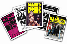 THE DAMNED - SET OF 5 - A4 POSTER PRINTS # 1