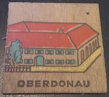 (No0436) German Winterhilfswerk WHW WW2 wooden pendant Volkswohlfahrt OBERDONAU