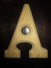 "Unpainted ""A"" Wooden Wedding Party Home Decor Nursery Alphabet Letter - NEW"
