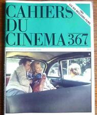CAHIERS DU CINEMA N° 367 JANVIER 1985   LES DIX MEILLEURS FILM DE 1984