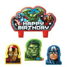 4 Piece Marvel Avengers Superhero Happy Birthday Cake Decoration Party Candles