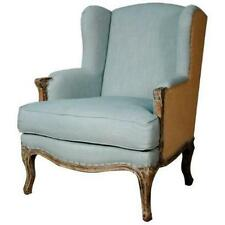 New Pacific Direct 393039-SBB Marie Wing Arm Chair Soft Blue - Burlap